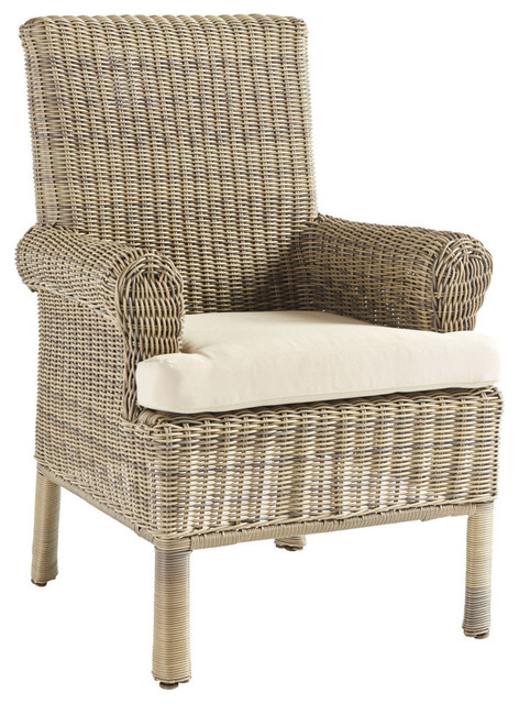 Provence Dining Arm Chair, Husk Texture Birch.