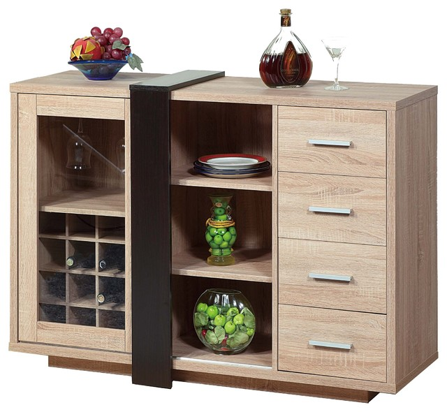 14900 Smart Home Weathered White Wine Bar Buffet Table Sideboard ...
