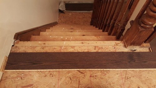 Stair Landing From Engineered Stair Kit Tread