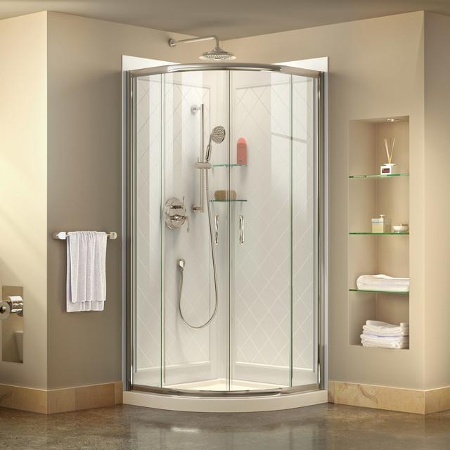 Exceptionnel Dermott Shower Enclosure, Chrome, Clear Glass