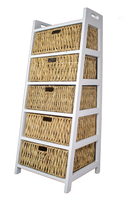Vale Storage Cabinet, 5 Hyacinth Baskets.