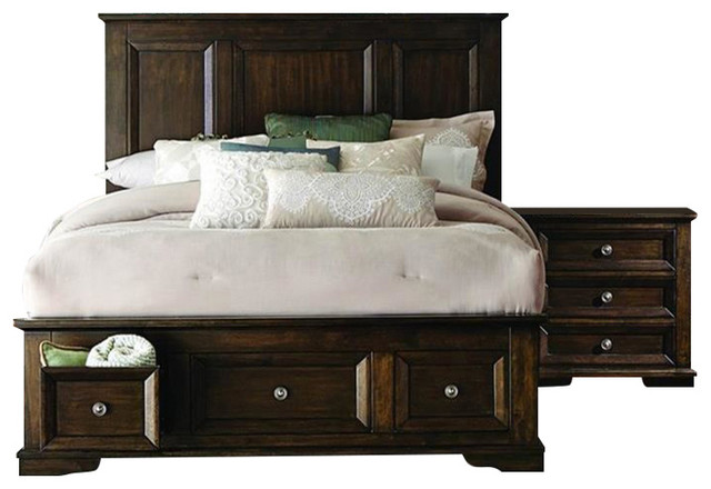 Homelegance Eunice 2 Piece Platform Bedroom Set With Storage