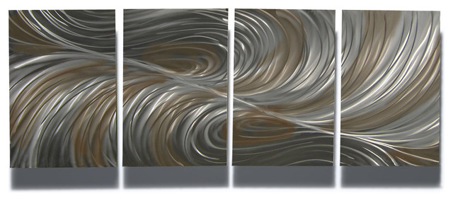 Beau Metal Art Wall Art Decor Abstract Contemporary Modern Sculpture  Echo Bronze  Contemporary Wall
