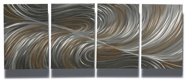 Metal Art Wall Art Decor Abstract Contemporary Modern Sculpture ...