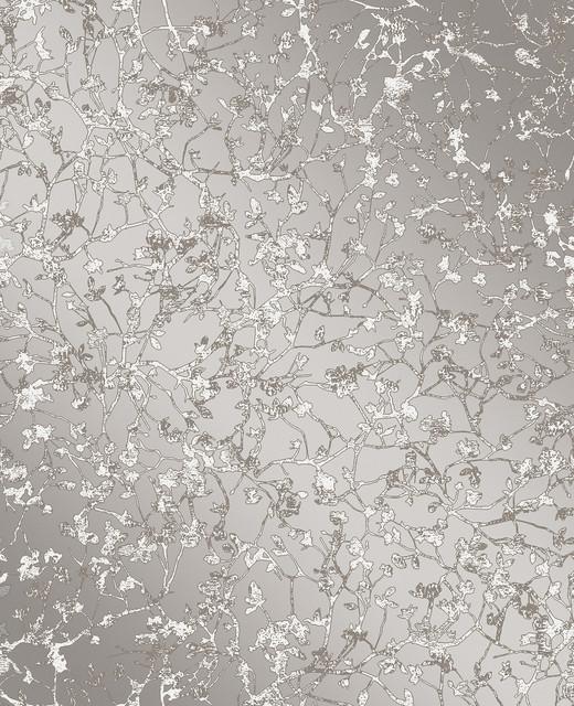 Palatine Gray Leaves Wallpaper Bolt.