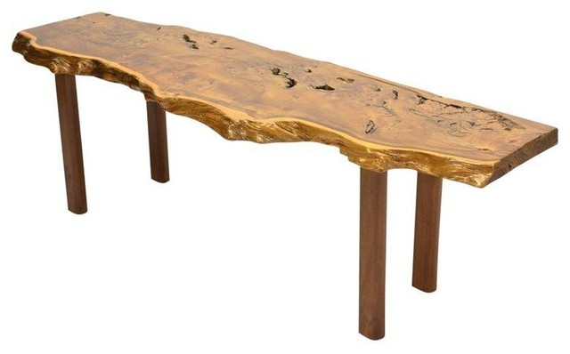 Lovely Yew Wood Slab Coffee Table By Reynolds Of Ludlow Coffee Tables
