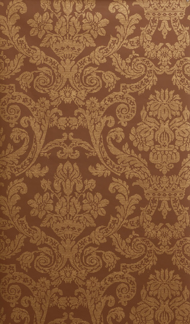 Tam and Brown Victorian Damask Wallpaper - Victorian ...