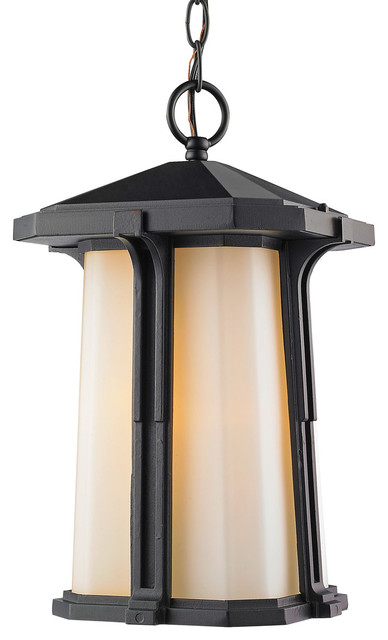 Harbor Lane 1-Light Outdoor Pendants/chandeliers, Black.