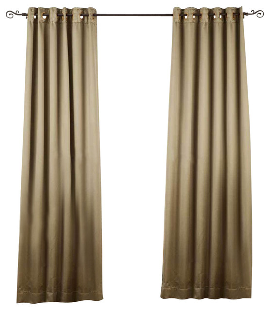 Olive green ring grommet top 90 blackout curtain - Curtains for olive green walls ...