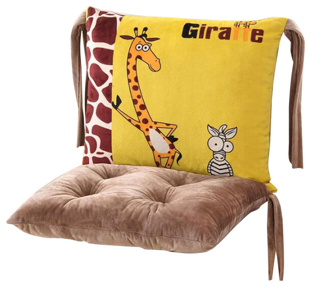 new chair cushion lovely cotton deer print chair cushion ...