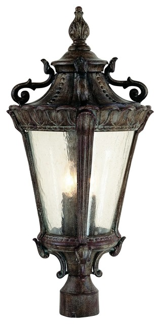 Trans Globe Lighting 4842 Pa Traditional Outdoor Post Lantern Light.