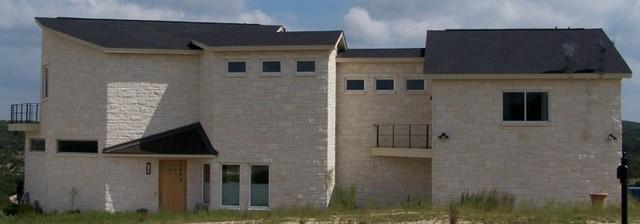Contemporary exterior home idea in Austin