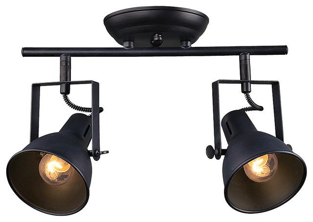 2 Light Retro Style Spotlight Ceiling Lamp Transitional Spot Lights By Lnc Lighting