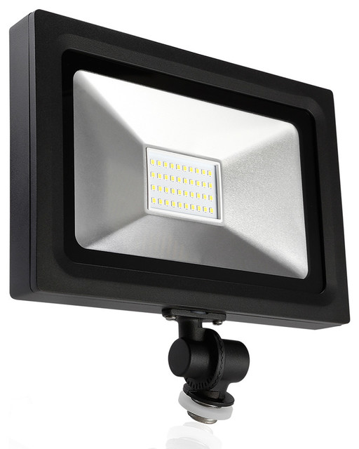Leonlite LED Outdoor Flood Light, 30W Transitional Outdoor Flood And Spot