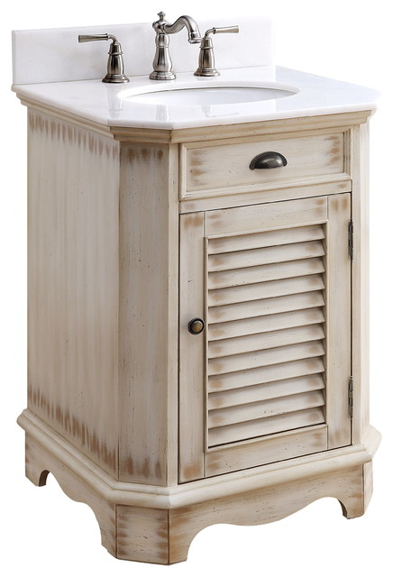 24 Abbeville Rustic Beige Bathroom Vanity Farmhouse Bathroom Vanities And Sink Consoles By Chans Furniture Houzz
