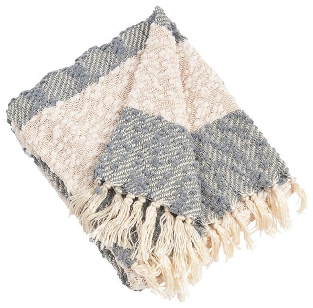 Nubby Throw Blanket, Gray.