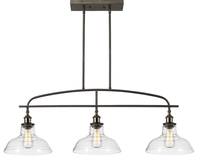 Felix Light Pendant Industrial Kitchen Island Lighting By - Three light pendant kitchen