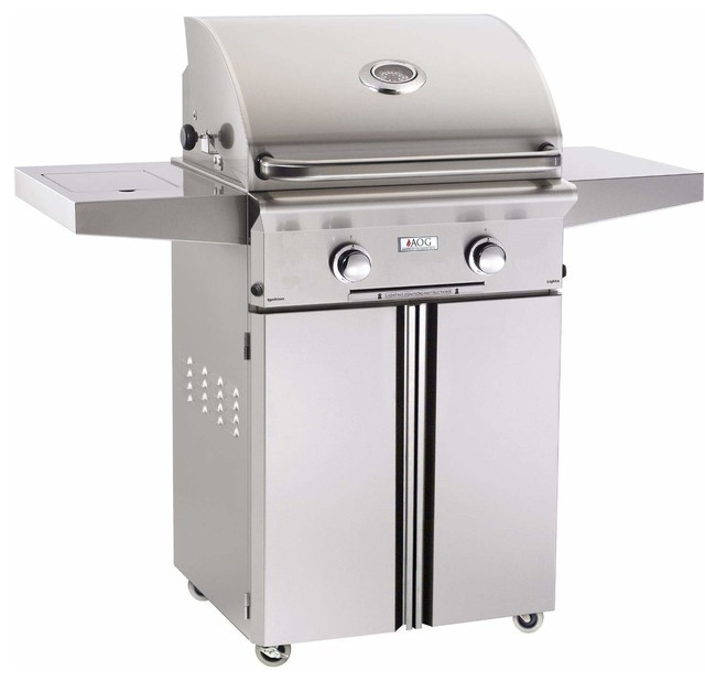 "AOG American Outdoor Grill 24NCL-00SP L-Series 24"" Natural Gas Grill On Cart"