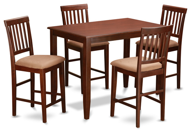 Buvn Mah Kitchen Table Set Transitional Indoor Pub And Bistro Sets By D