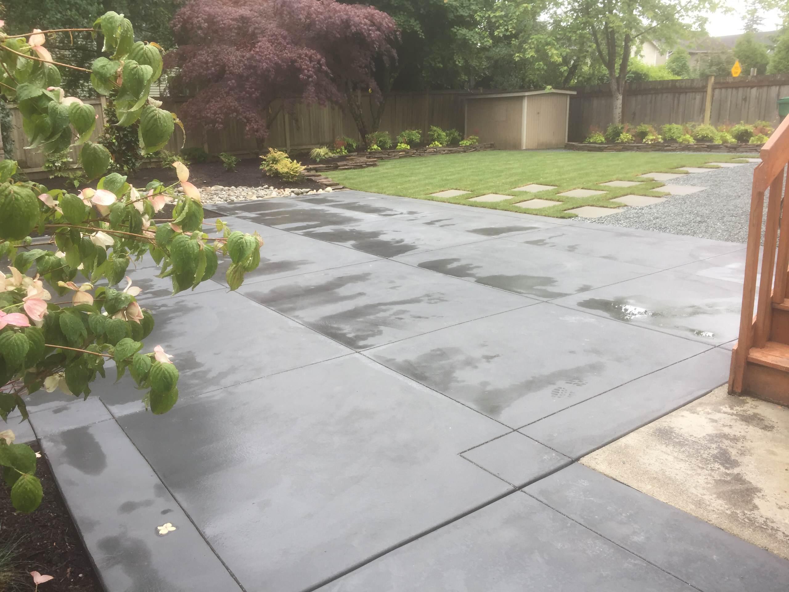 Yard Renovation - Concrete Patio