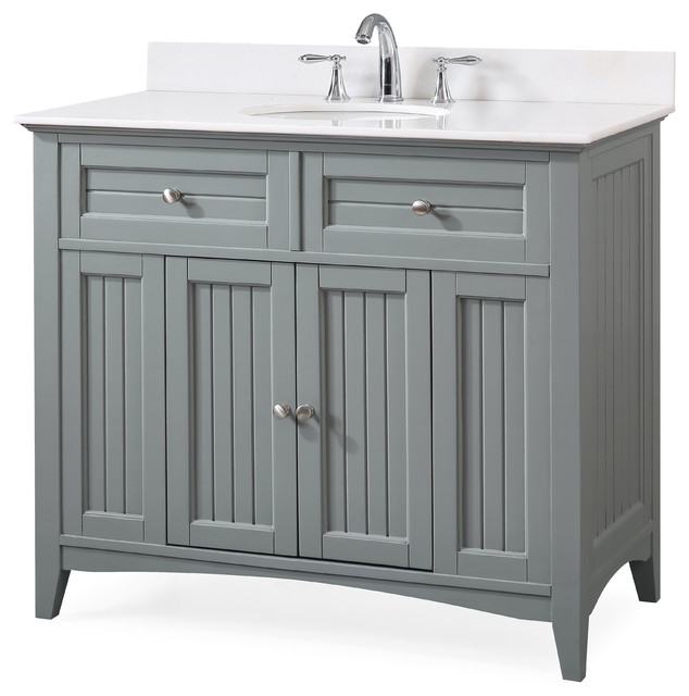 42 Thomasville Cottage Style Bathroom Vanity Transitional Bathroom Vanities And Sink Consoles By Chans Furniture Houzz