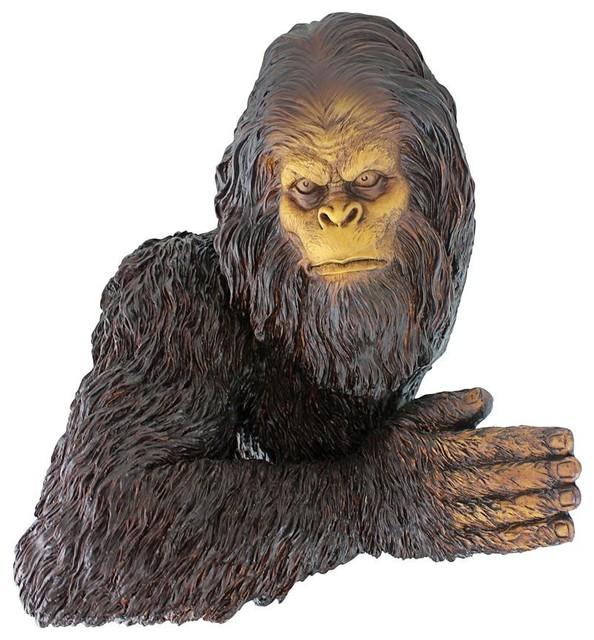 Garden Sculpture Statue Animal Ornament Baby Gorilla Home Porch Patio Art Home