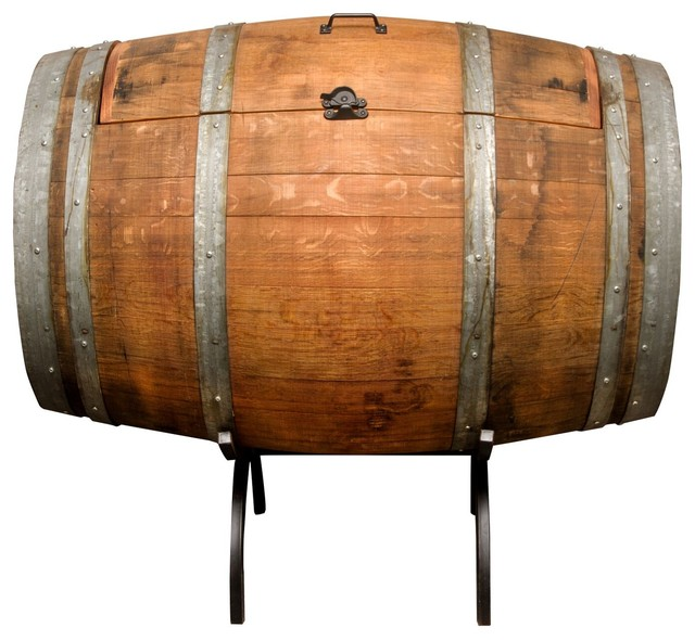 Patio Ice Chest On Wheels Wine Barrel Ice Chest Rustic Coolers And Ice  Chests By Napa