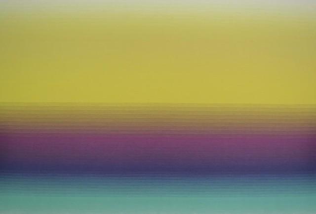 Missoni Home Riga Sfumato Wallpaper, Aqua/violet/yellow.