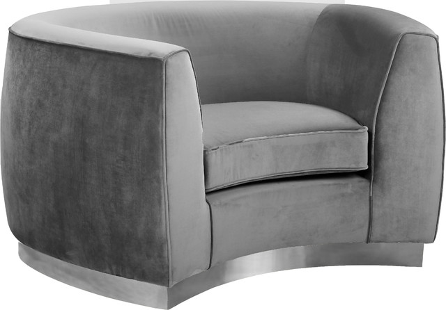 Julian Velvet Chair Contemporary Armchairs And Accent