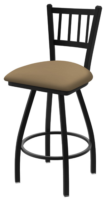 "810 Contessa 36"" Swivel Bar Stool With Black Wrinkle and Canter Sand Seat"