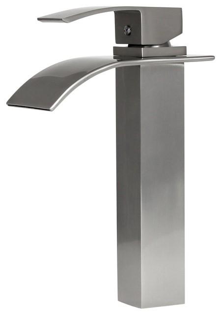 Dyconn Faucet Wye Vs1h36 Bn Brushed Nickel Modern Bathroom Vessel