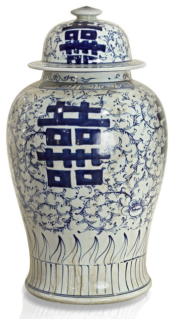 double happiness porcelain ginger jar