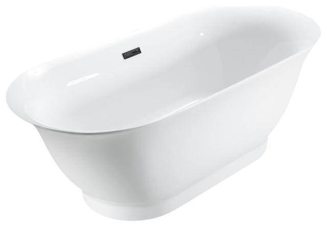 "Streamline 67"" Soaking Freestanding Tub With Internal Drain."