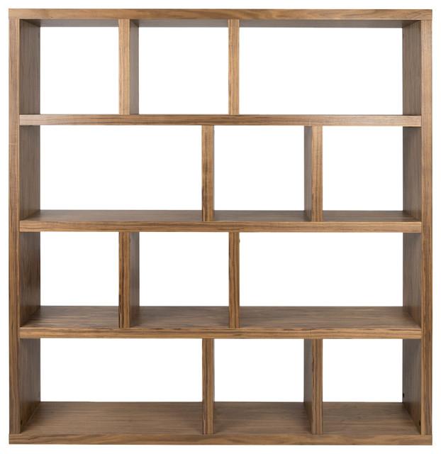 Berlin 4 Levels Bookcase, 150 Cm., Walnut.