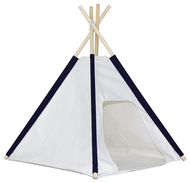 Blue Pocket Dog Teepee with Floor Cover traditional-dog-beds  sc 1 st  Houzz & Dexton - Blue Pocket Dog Teepee with Floor Cover - View in Your ...