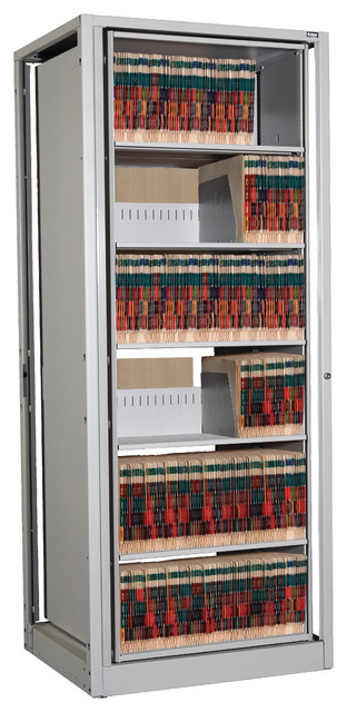 EZ2 Rotary File Shelving, 6 High, Legal Depth Locking Adder - Contemporary - Filing Cabinets ...