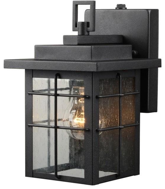 Hardware House Large Lantern, Textured Black