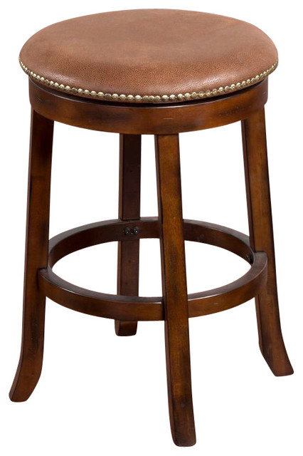 Santa Fe Swivel Stool 24 Quot Traditional Bar Stools And