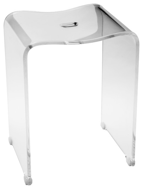 Cp Backless Shower Bench Stool Chair Bathroom Shower Seat Clear Acrylic Contemporary Shower