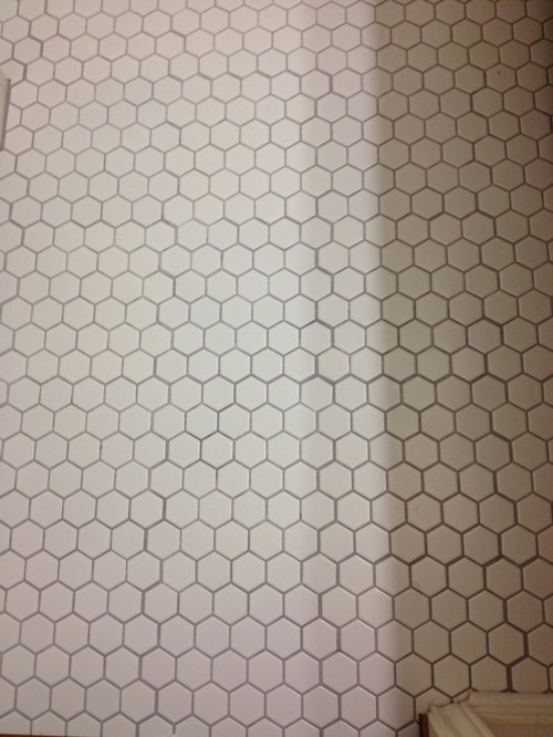 Help Poorly Laid Hex Tile Should We Have It Redone