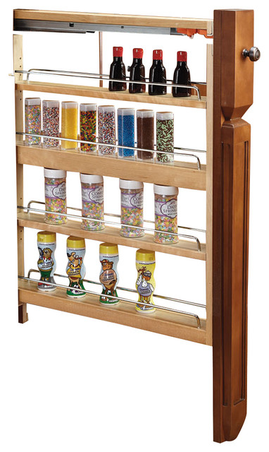 "Rev-A-Shelf, 3"" Base Filler Pullout Soft-Close, Natural, 3""."