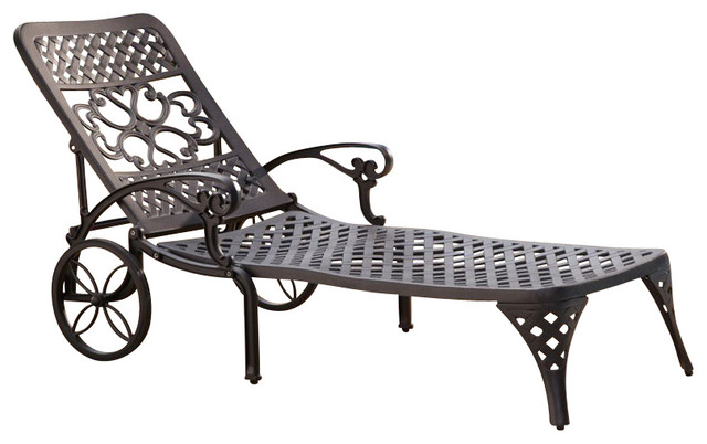 Home Styles Biscayne Black Chaise Lounge Chair mediterranean-outdoor-chaise- lounges  sc 1 st  Houzz : chaise lounge styles - Sectionals, Sofas & Couches