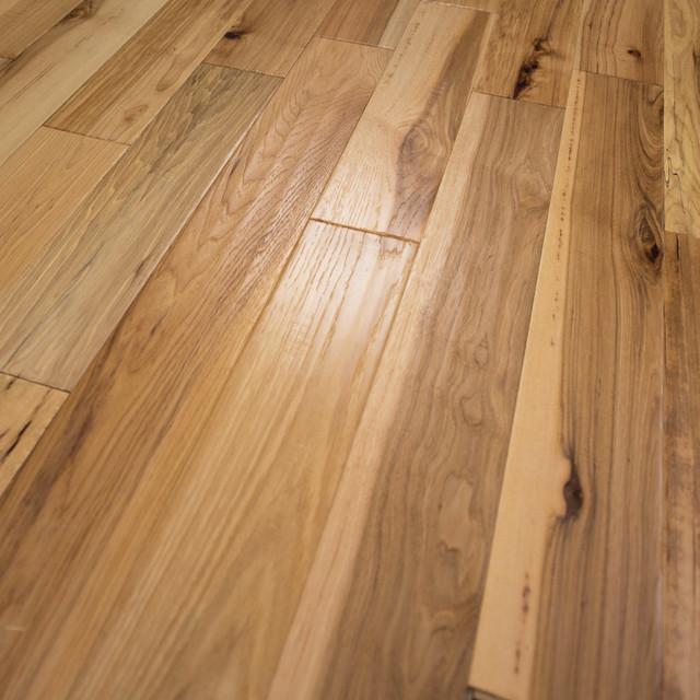 "5""x1/2"" Hickory Hand Scraped Prefinished Engineered Wood Flooring, 1 Box."
