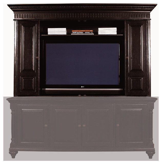 Tommy Bahama Kingstown Wellington Entertainment Hutch traditional- entertainment-centers-and-tv- - Tommy Bahama Kingstown Wellington Entertainment Hutch