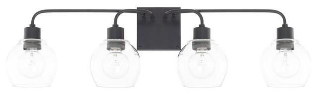 Capital Lighting 120041MB-426 Tanner 4 Light Bathroom Light, Matte Black