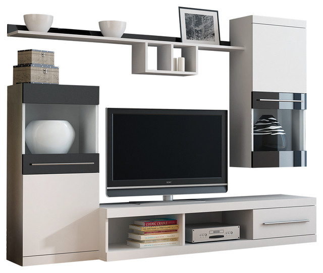 Nick 4 Pieces Tv Set, White And Black.