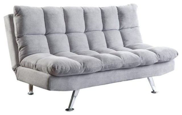 Bowery Hill Convertible Sofa, Gray.