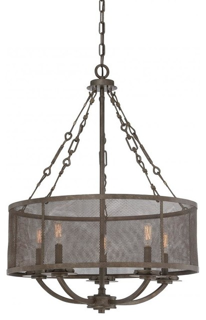 Shop Houzz – Bronze Chandelier with Shades