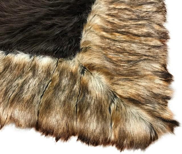 Brown Faux Fur Area Rug