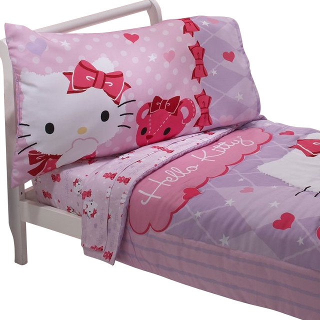 hello kitty toddler bedding set teddy bear friends bedding